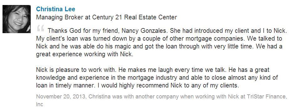 Christina Lee testimonial
